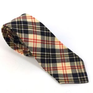 VTG Botany Mills Plaid Made In USA 100% Wool Tie